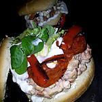 recette Burger au poulet poivrons et chorizo