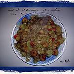 recette noix de st jacques - crevettes au pet-saï ( chou chinois )