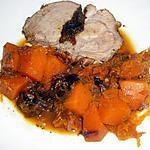 recette Rôti de porc aux pruneaux et potiron