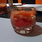 recette Verrines avocat, tomate, crevette & saumon