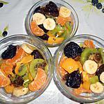 recette SALADE DE FRUITS D'HIVER A LA MOUSSE AU BROCCIU