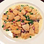 recette Gnocchi à la patate douce avec sauce crémeuse et petits pois