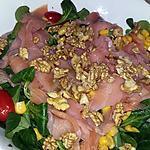recette Salade mâche saumon noix