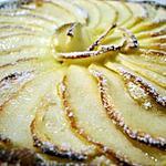 recette Tarte fine aux pommes et crème d'amandes...