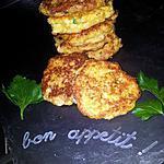 recette Palets de chou fleur au conté