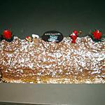 recette BUCHE DE NOEL CREME AU BEURRE CHOCOLAT