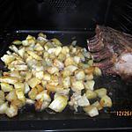recette Carré de porc , dés de charlottes au four
