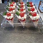 recette Verrines tomate mozzarella