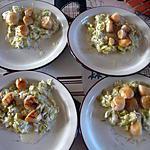 recette Saint-Jacques sur fondue de poireaux