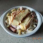recette Gratin de pâtes au munster