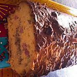 recette Cake à la farine de pois chiche dès de jambon emmental et olive verte haché