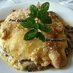 recette Escalopes de dinde gratinées, poêlée d'aubergine et de courgette