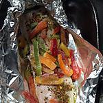 recette Filet de cabillaud au poivron en papillote