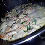 recette Blanquette de boudin blanc au champignons de paris