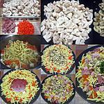 recette Pâtes spaetzle au trio de légumes/ jambon.