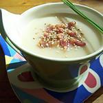 recette Soupe de chou fleur, lardons et gomashio (ou gomasio)