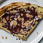 recette Crêpes au chocolat et aux amandes