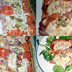 recette PIZZA DUO TOMATE ARTICHAUT/JAMBON MUNSTER