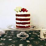 recette Red velvet naked cake aux framboises