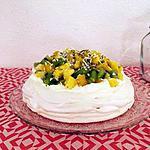 recette Pavlova aux fruits exotiques