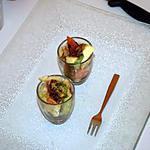 recette Verrine avocat/pomme/tomate