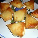 recette Samoussas au chevre et paprika