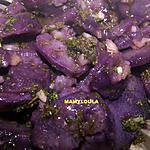 """recette Salade de pommes de terre vitelotte à la vignaigrette d'estragon """"anti-cholestérol"""""""