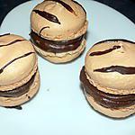 recette Macarons chocolat nougat