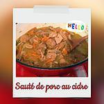 recette SAUTE DE PORC AU CIDRE