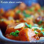 Patates douces épicées et legèrement caramélisée