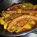 recette Ragoût au merguez pommes de terre haricot vert et curry