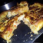 recette Quiche à la ratatouille au chorizo et à la mozzarella