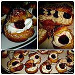 recette Petits Choux à la crème pâtissière, chantilly et framboises