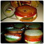 recette Sandwich avocat, mozarella, tomate et bacon