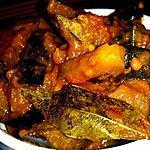 recette Curry d'aubergines aigre doux à la tomate
