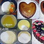 recette Gâteau St Valentin de noix de coco.