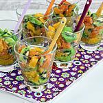 recette Verrine kiwis, oranges et truite fumée