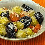 recette Poelée de choux bruxelles aux carottes et pruneaux