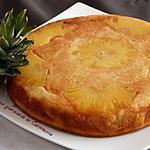 recette Gâteau d'ananas et mangue flambé au rhum