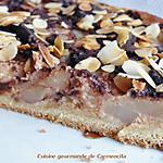 recette Tarte fondante à la crème fève Tonka poire et chocolat