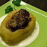 recette Pommes de terre farcies sauce au Gorgonzola