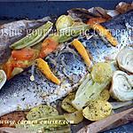 recette Saumon entier cuit en papillote
