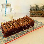recette Brownie crémeux chocolat au lait caramel