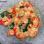 recette Crevettes sautées aux légumes