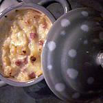 recette Purée de pomme de terre agrémenté jambon et fromage au four