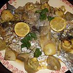 recette Daurade royale aux artichauts