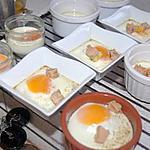 recette Oeufs Cocotte au foie gras