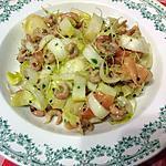 recette Salade de chicons, saumon et crevettes grises