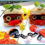recette Bonshommes fourrés à la viande et aux poivrons