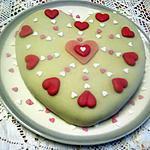 recette Gâteau de Savoie saint Valentin.